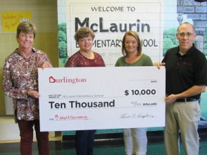 McLaurin receives $10,000 from Burlington Stores