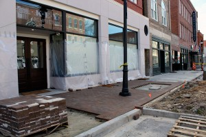 Downtown streetscape project underway