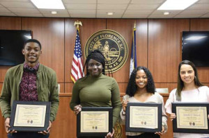 Four presented Terrance Carraway scholarships
