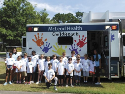 McLeod Safe Kids visit Camp Pee Dee Pride