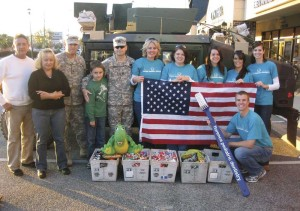 Cash for candy, then gifted to troops overseas