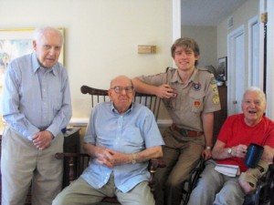 Scout interviews WWII veterans
