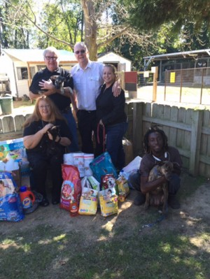 Florence Elks collect items for Darlington Humane Society