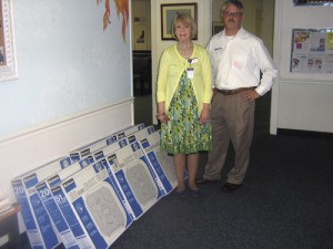 Lighthouse Ministries receives gift of fans from Agape Hospice