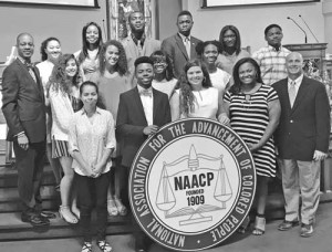 "NAACP recognized students taking the ""Highway to Higher Education"""