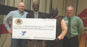 Florence Family YMCA receives Grant from Florence County