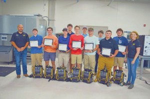 Inaugural HVAC Engineering and  Technology Academy class at FDTC honored during scholarship ceremony
