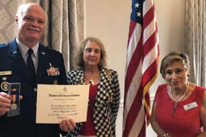 Local DAR chapter  honors retired colonel