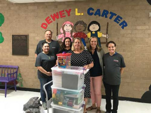 MCCALL FARMS DONATES TO  DEWEY L. CARTER ELEMENTARY