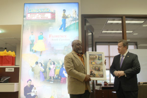 Mural depicts county history
