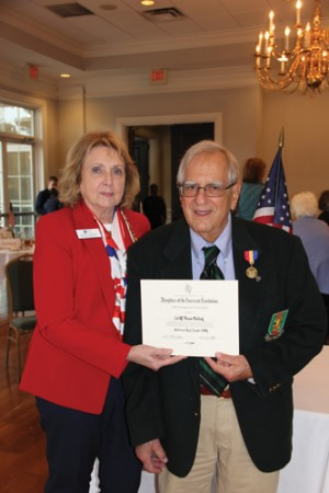 Florence resident receives medal from The National Society of the Daughters of the American Revolution