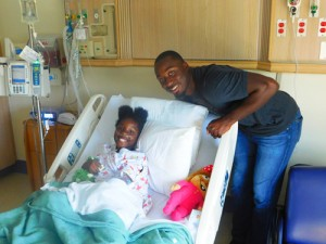 Marcus Lattimore visits hospitalized children