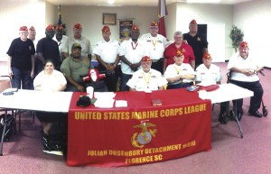 Marine detachment introduces themselves, welcomes new members