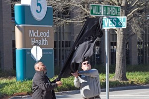McLeod unveils William H. Johnson Street sign