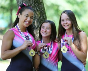 Three local gymnasts are AAU National Champions