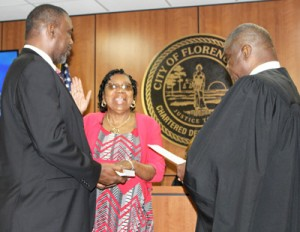 Pat Gibson-Hye Moore takes oath  for Florence City Council