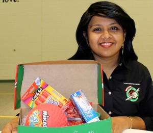 Recipient talks about impact of gift-filled