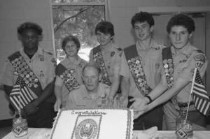 Five promoted to Eagle Scout during court of honor