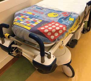 New bed sheets benefit young patients