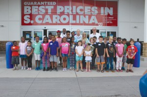 Camp Pee Dee Pride campers surprised with back to school shopping trip