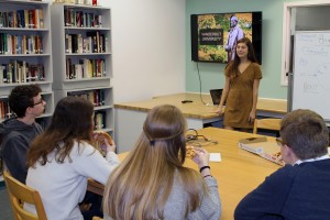 Trinity Byrnes graduate visits alma mater to talk about Vanderbilt University