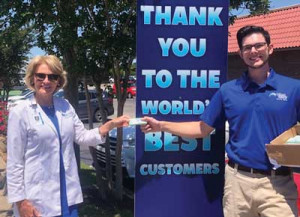 CAR WASHES DONATED TO MEDICAL WORKERS