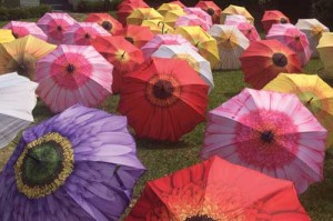 Hospice honors clients  with colorful umbrellas