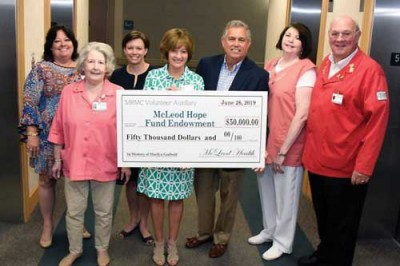 Donation made to Hope Fund by McLeod Volunteer Auxiliary